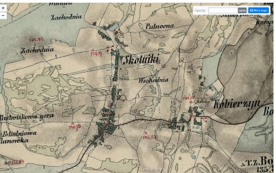 Mapa Skotnik z XIX wieku